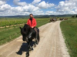 passeggiata a cavallo in Toscana